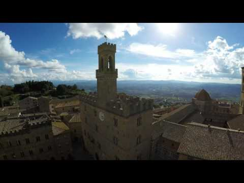 Volterra, Italy - Flight over the city and its surroundings