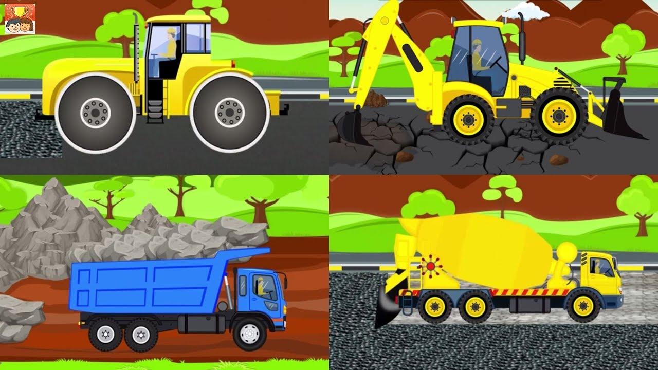 Mainan Bulldozer Excavator Dump Truck Dan Truk Molen Bego Permainan Kartun Untuk Anak Anak Part 5 Youtube