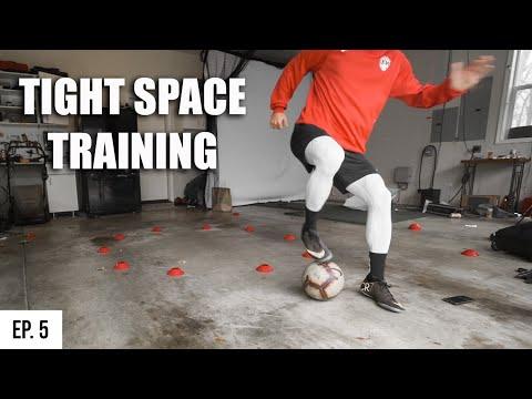 A Pro Footballer's Garage Training Session