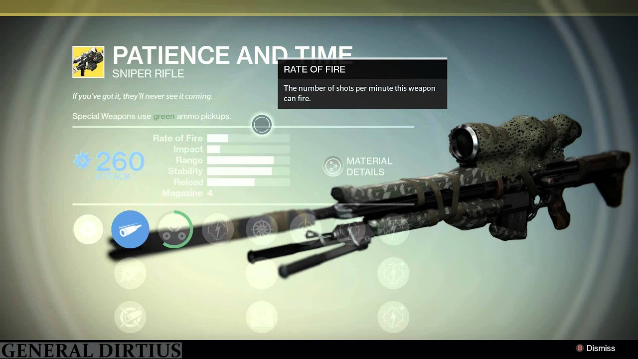 DESTINY - The Patience and Time EXOTIC Sniper Rifle! - YouTube