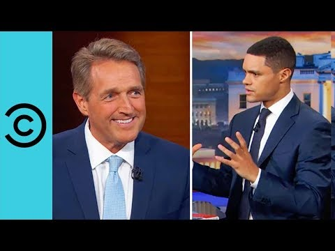 Senator Jeff Flake On President Trump | The Daily Show