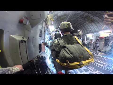 White Falcons Combat Equipment Daylight Jump from a C17