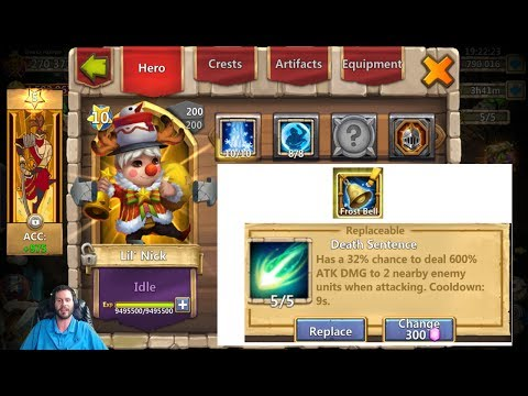 LiL Nick INSANE New Death Sentence Talent For Him Castle Clash