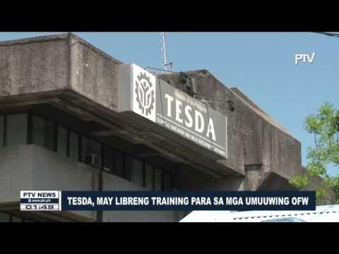 TESDA, may libreng training para sa mga umuuwing OFW