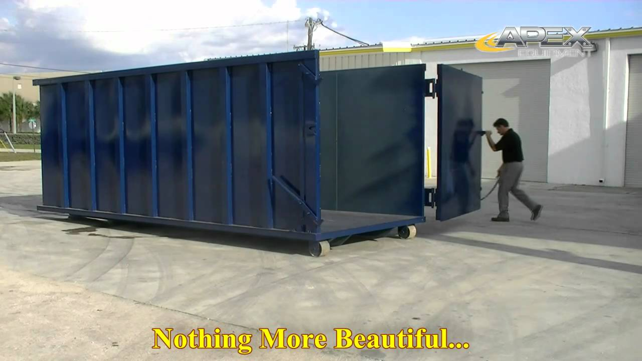 40 yard roll off containers for sale youtube. Black Bedroom Furniture Sets. Home Design Ideas