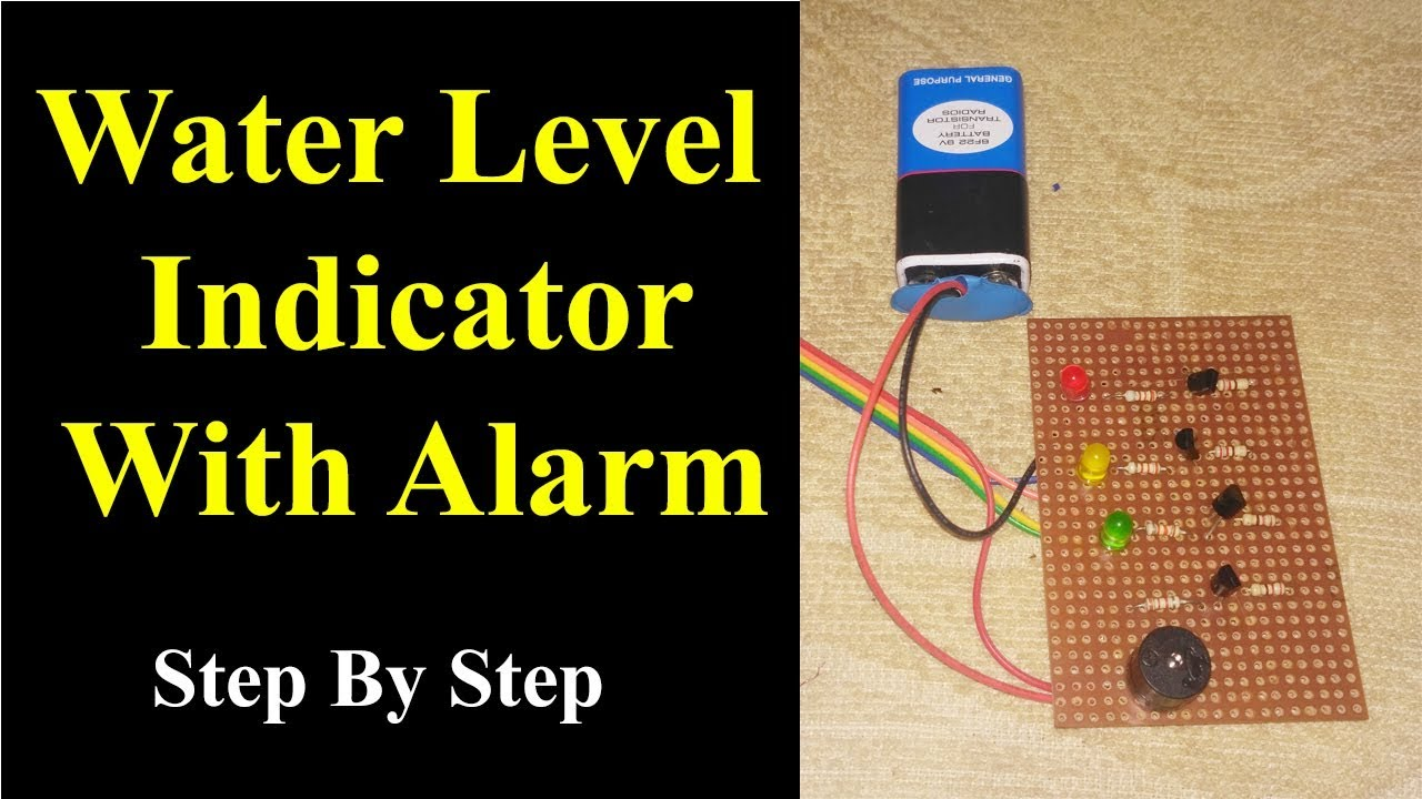 water level indicator with alarm on pcb with circuit diagram hindi step by step mr dhakad [ 1280 x 720 Pixel ]
