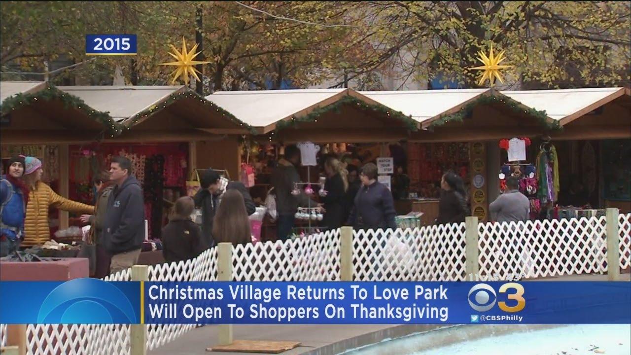 christmas village returns to love park