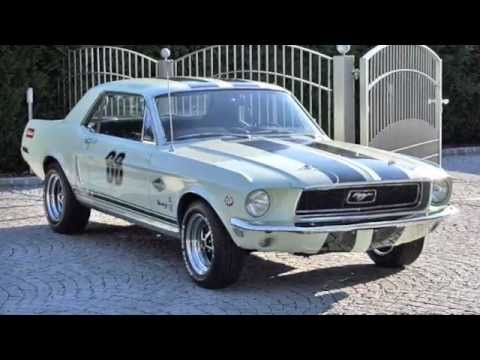 1968 ford mustang v8 racing kult car germany youtube. Black Bedroom Furniture Sets. Home Design Ideas