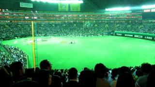 2012.3.30 ホークス2012開幕戦セレモニーで歌手 植村花菜さんの国歌独唱.