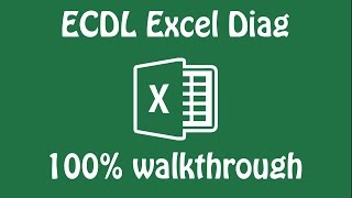 ECDL Excel Mock DIAG 2016 17 100% walkthrough