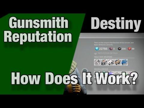Destiny: How To Rank Up Gunsmith Fast!