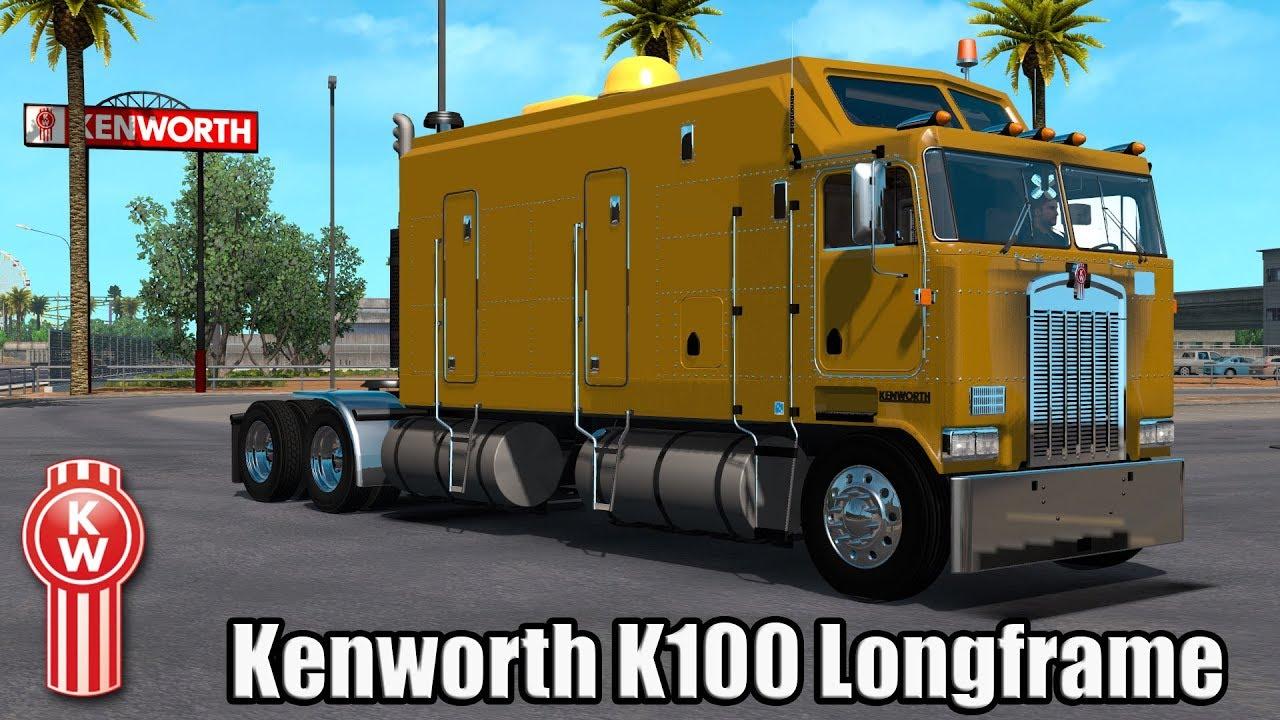 ATS Mods - Kenworth K100 Longframe / Double Trailers 1.28 - YouTube