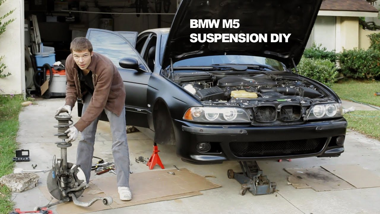 suspension diy repair bmw m5 dinan koni shocks swaybar powerflex bushings youtube. Black Bedroom Furniture Sets. Home Design Ideas