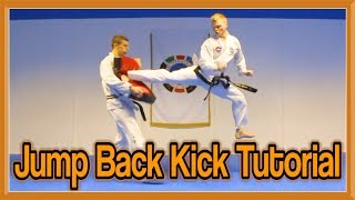 Taekwondo Jump Spin Back kick Tutorial