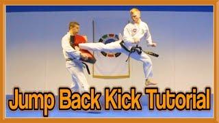 Taekwondo Jump Spin Back kick Tutorial