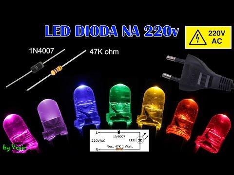 LED Dioda na  220V