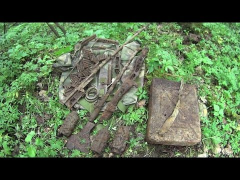 СВТ-40, ППШ, Винтовка Мосина. Военная археология. WW2. Military Hunter. SVT-40