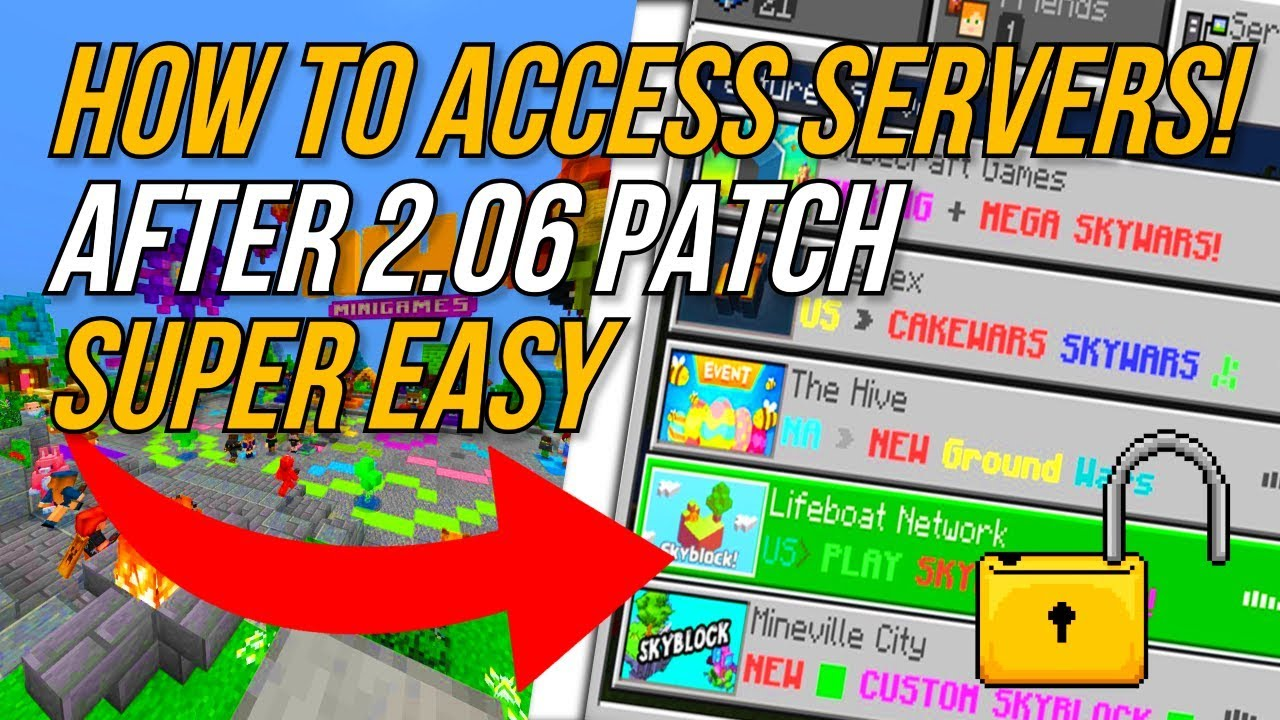 Minecraft PS4 BEDROCK EDITION HOW TO ACCESS SERVERS TU 2 08