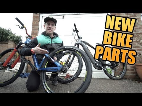 FITTING NEW PARTS ON MY MOUNTAIN BIKES!