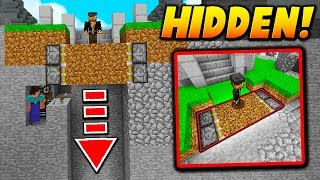 HIDDEN PISTON FLOOR TRAP! - Minecraft SKYWARS TROLLING (FAKE FLOOR!)