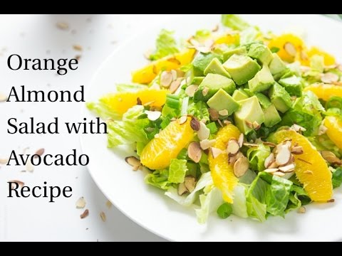 Orange Almond Salad With Avocado