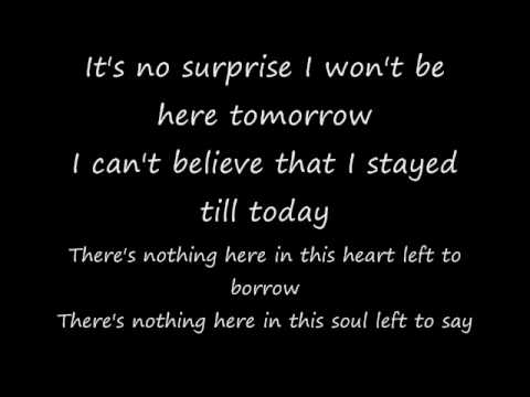 No Surprise lyrics Daughtry