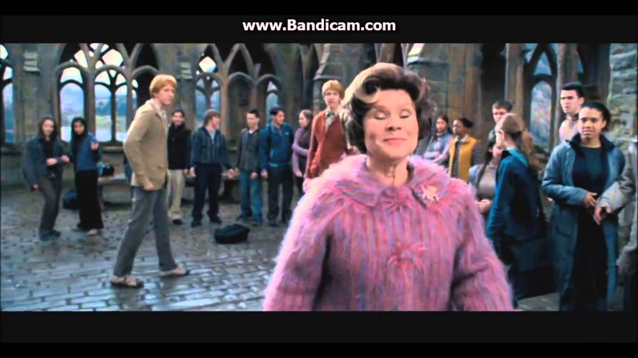 Harry Potter and the Order of the Phoenix Funny Umbridge scene YouTube