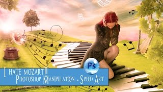 Photoshop tutorial - Speed Art - I hate Mozart!!