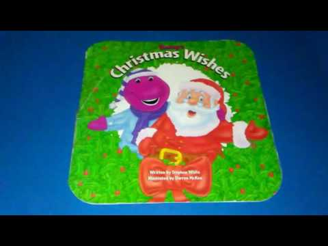 """Barney's """"Christmas Wishes"""" read-aloud children book storybook"""
