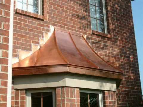 Copper Bay Window Roofs | Copper Roofing | Copper Awnings Indianapolis