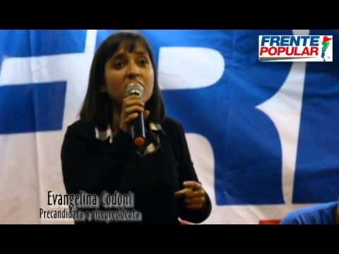 Evangelina Codoni, precandidata a vicepresidenta por el Frente Popular