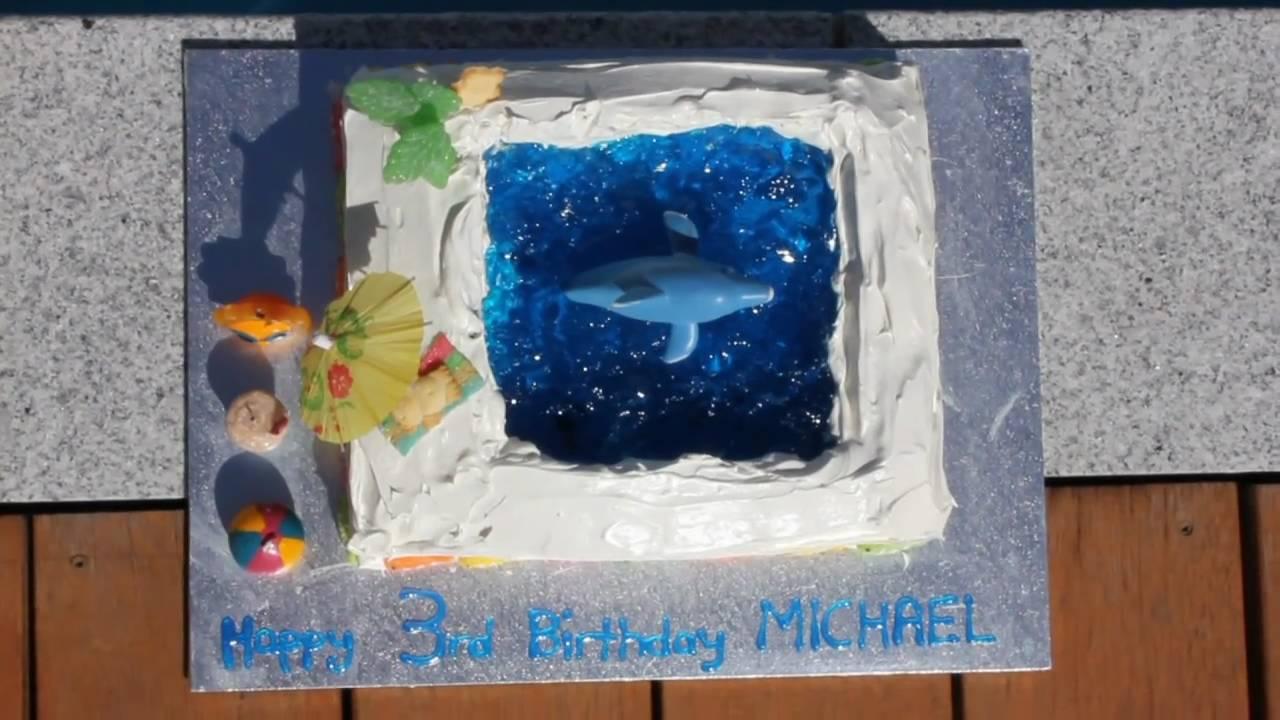 Beach Pool Dolphin Jello Jelly Cake Youtube
