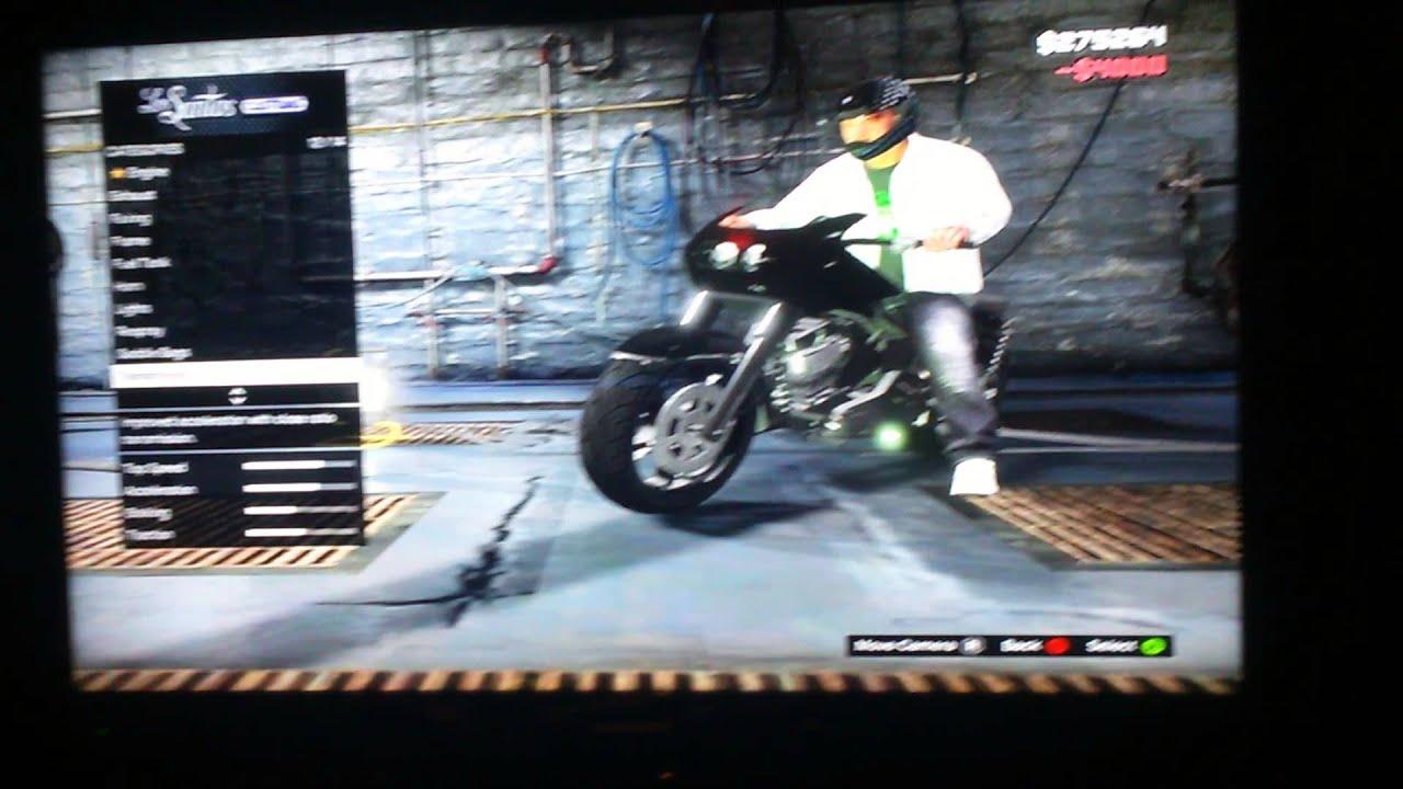 GTA v franklin bike kit up - YouTube