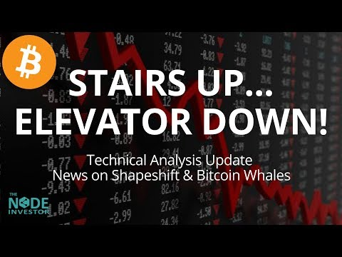 Stairs Up – Elevator Down!  Crypto Markets Sell Off!