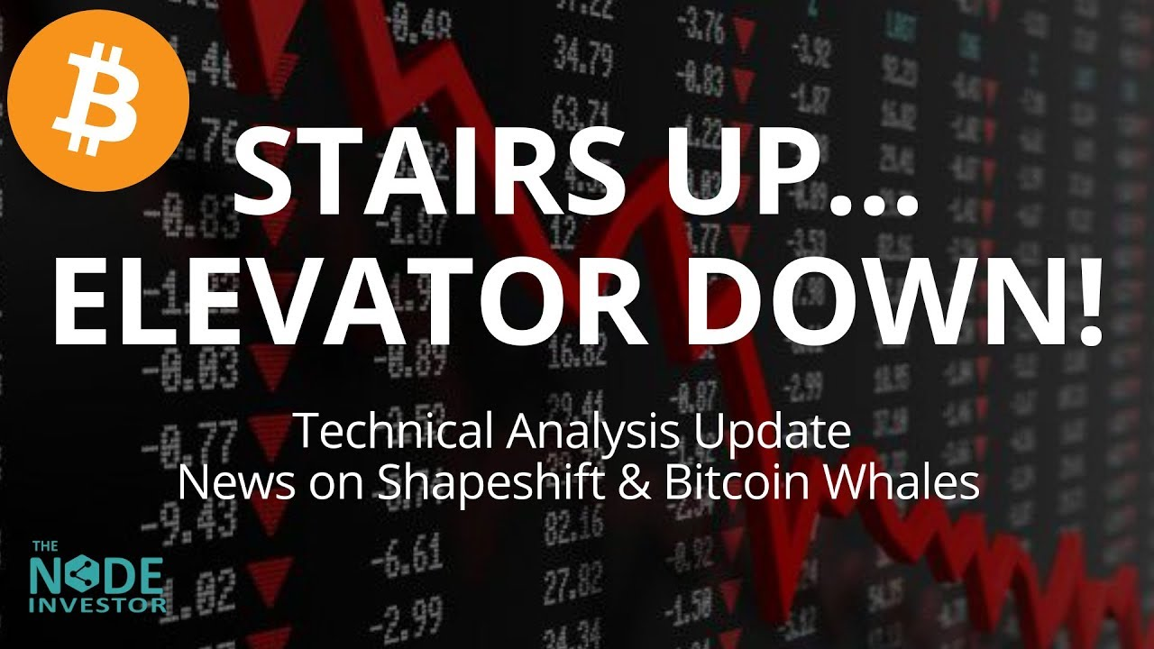 Stairs Up Elevator Down Crypto Markets Sell Off