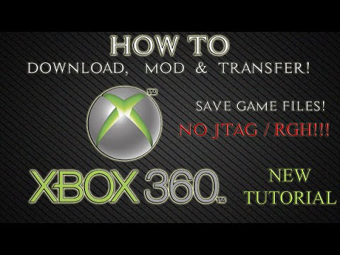 How to download, mod and transfer save game files on xbox 360.
