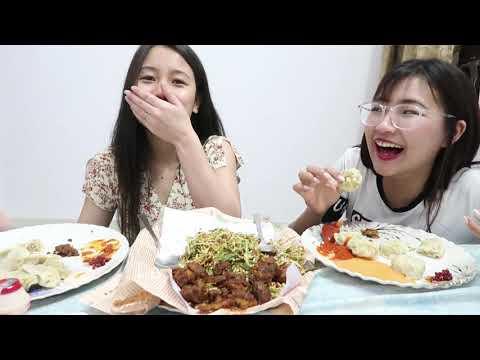 2 Friends Eating Momo & Manipur Singju | MUKBANG | Veronica Awungshi
