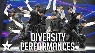 ALL FULL Diversity Performances on Britain&#39s Got Talent!  Got Talent Global