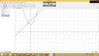 Como hallar el área de una región entre dos curvas Geogebra