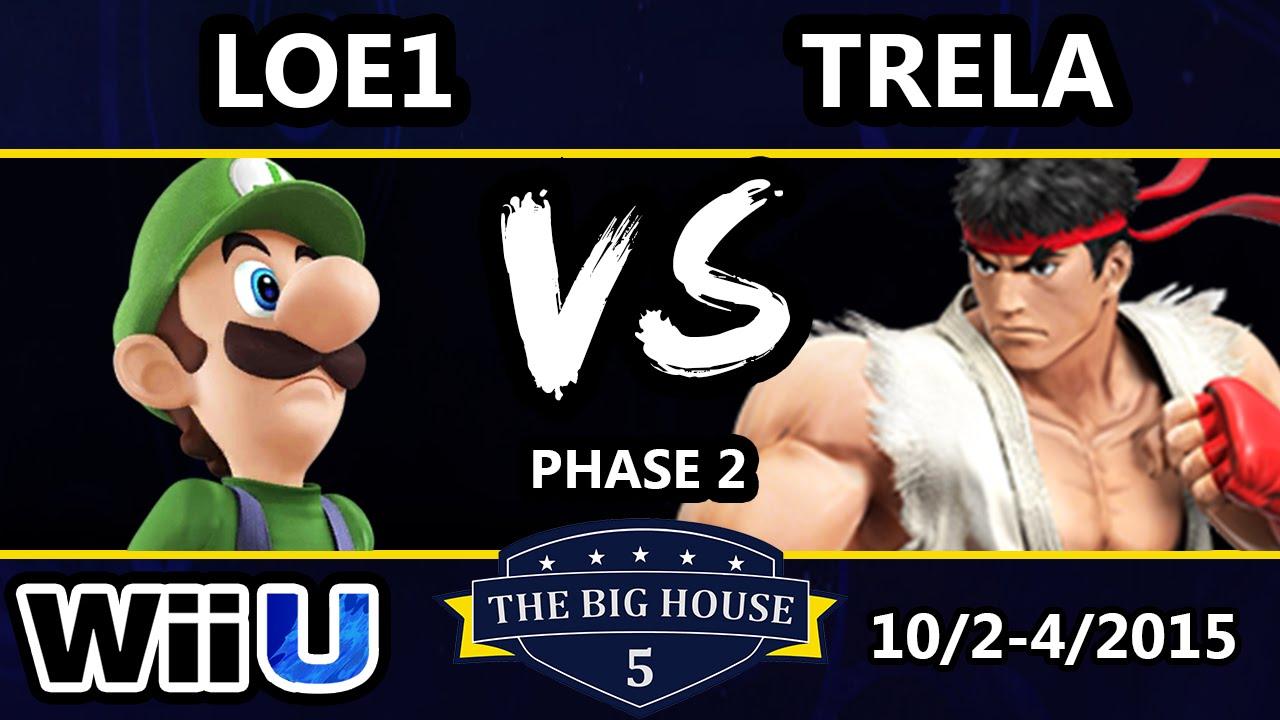 TBH5 - LOE1 (Luigi) Vs. Trela (Ryu) SSB4 Phase 2 - Smash Wii U - Smash 4