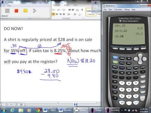 How to solve sales tax problems