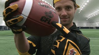 World Record! Andy Fantuz Breaks One-Handed Catch Record   CFL