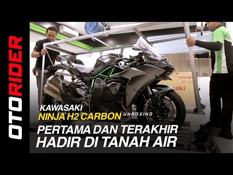 Kawasaki Ninja H2 Carbon 2018 Unboxing Indonesia | OtoRider