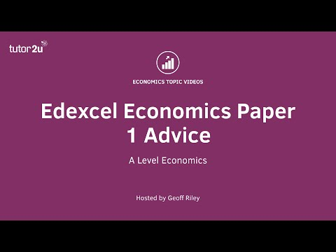 Edexcel Economics Paper 1 Advice (2019)