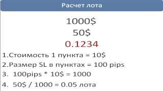 Как определить объем лота