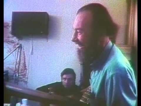 Pete Seeger preparing for Johnny Cash TV Show, 1970