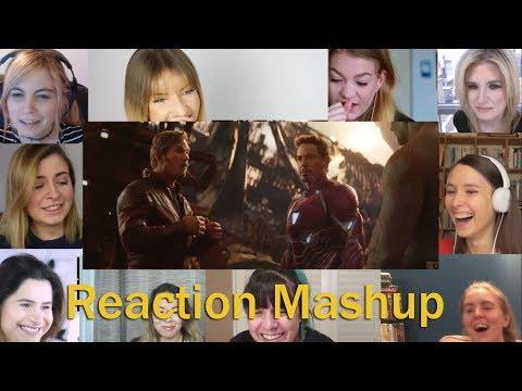 Marvel Studios Avengers Infinity War Trailer 2  -  All Girls REACTION MASHUP