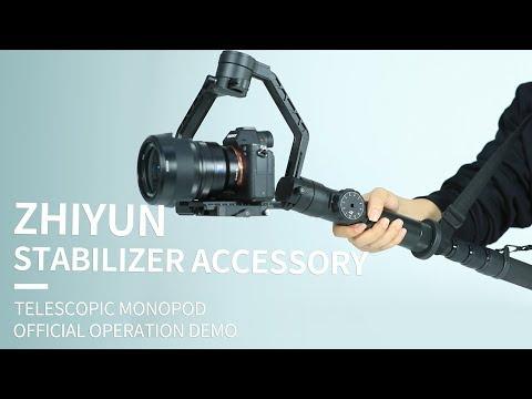 Zhiyun Telescopic Monopod Selfie Stick with Tripod Stand for Crane 2 Crane-M,DSLR Canon Nikon SONY Camera Including Carrying Bag Crane V2 Crane Plus