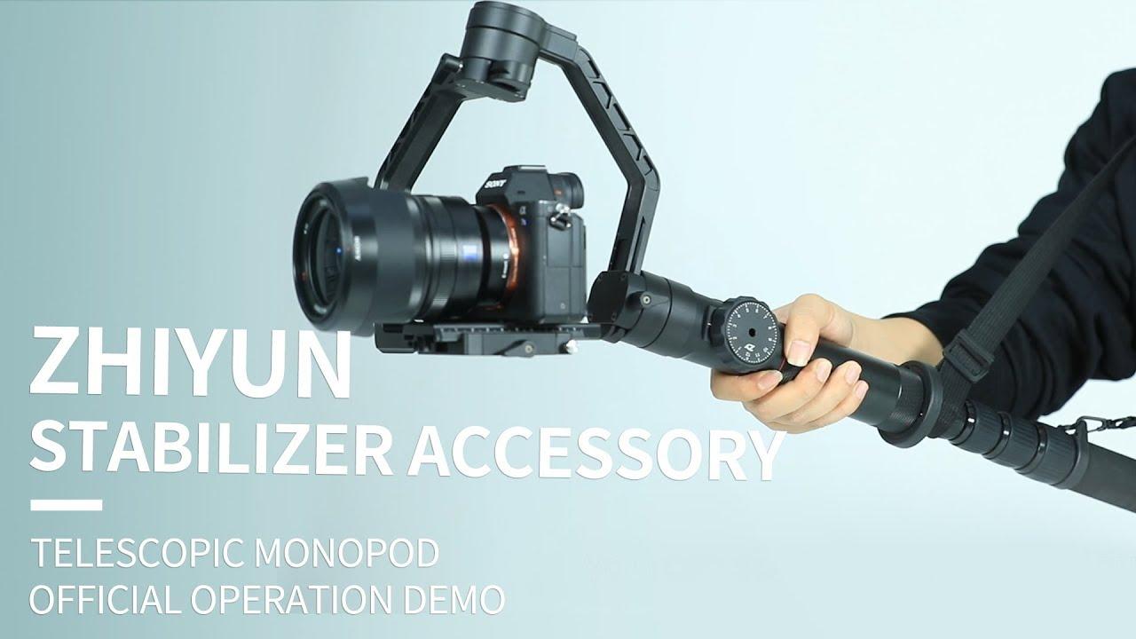 Zhiyun Stabilizer Accessorytelescopic Monopodofficial Operation Tripod Pole For Crane 3axis M Smooth Q 3 Demo