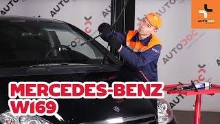 Cómo cambiar escobillas del limpiaparabrisas delantero en MERCEDES-BENZ A W169 INSTRUCCIÓN | AUTODOC
